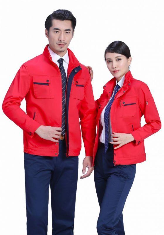 红色上衣+藏蓝裤